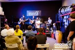 Daniel Susnjar with his 7-piece afro-peruvian jazz group
